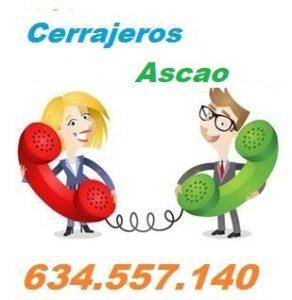 Telefono de la empresa cerrajeros Ascao